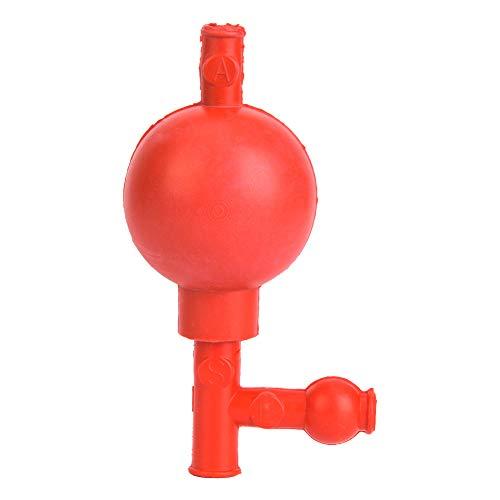 Pipeta de goma de laboratorio presión de seguridad llenado de pipeta cuantitativa bola de pipeta con 3 aberturas suministro de laboratorio rojo pipeta accesorios de laboratorio