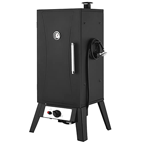 Outdoor Gas Smoker, 30 inch Vertical Propane Smoker, LP Gas Smoker with 4 Cooking Grills, 14,500 BTU, 632 Square Inch Cooking Area, for BBQ, Party, Garden