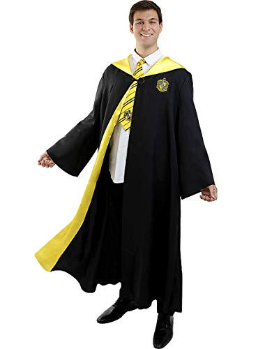 Funidelia | Disfraz Hufflepuff Harry Potter Oficial para Hombre y Mujer Talla S ▶ Hogwarts, Magos, Películas & Series - Color: Negro - Licencia: 100% Oficial