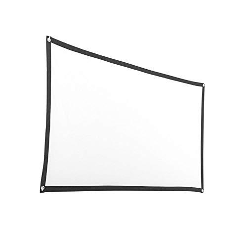 Currentiz Beamer Leinwand Tragbarer Filmbildschirm 60/72/84/92/100/120 Zoll Faltenfrei Tragbar Beamer Screen Projektorleinwand Unterstützt Die Vorder- Und Rückprojektion Projektionsfläche Beamer