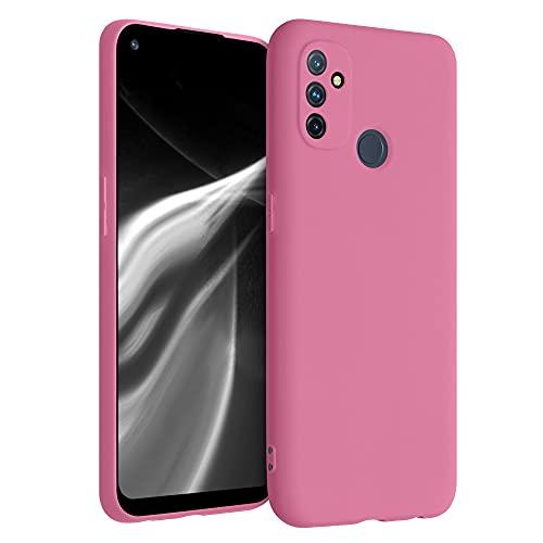 kwmobile Custodia Compatibile con OnePlus Nord N100 - Cover in Silicone TPU - Back Case per Smartphone - Protezione Gommata Bubblegum Pink
