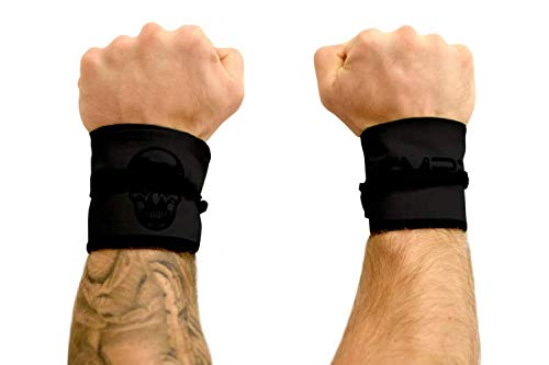 Gymreapers Strength Wrist Wraps for Cross Training, Olympic Lifting, Strength Training, WOD Workouts - Strong Wrist Support for Men and Women - Fits All Wrist Sizes | Men and Women (Black/Black)