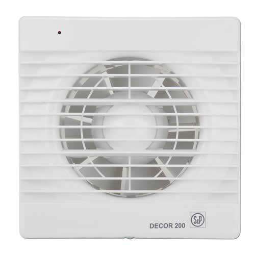 Soler&Palau Sistemas De Ventilacion Slu 5210100300 - Extractor baño axial 185m3/h extrapl. c/a bl decor 200-c s&p