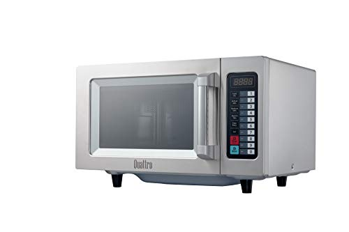Quattro 1000w Commerical Microwave Oven Flatbed 25 litre Stainless Steel - Commercial Kitchen, Catering Equipment