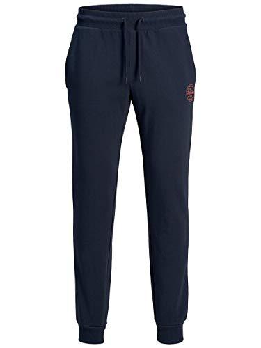 Jack & Jones Jjigordon Jjshark Sweat Pants Viy Noos Pantalones de Deporte, Azul (Navy Blazer Navy Blazer), W (Tamaño del Fabricante: L) para Hombre