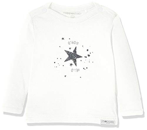 Noppies Baby-Unisex U Tee ls Lux tekst T-Shirt, Elfenbein (Snow White P098), (Herstellergröße: 68)