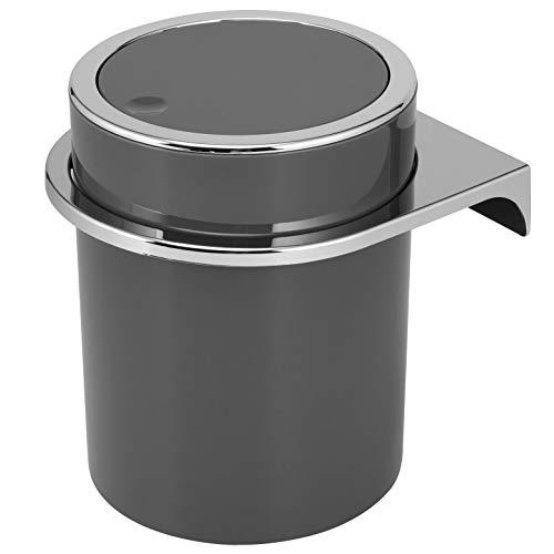 bremermann Kosmetikeimer Savona inkl. Wandhalterung // mit Schwingdeckel // Badeimer, Kunststoff, 5,5 Liter (Grau)