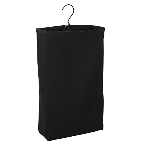 Product Image of the Household Essentials 149-1 Hanging Cotton Canvas Laundry Hamper Bag - Black