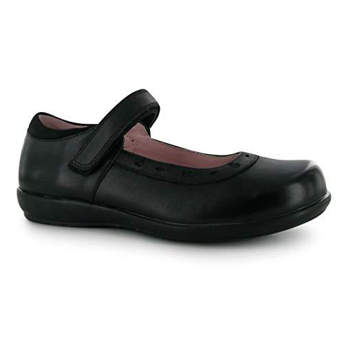 Kangol Tiffin Niñas Zapatillas Casuales Merceditas Bordados Negro EUR 30,5