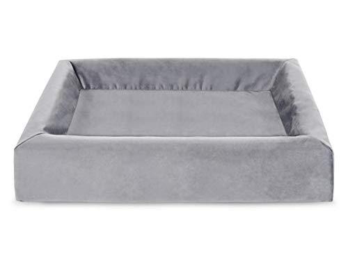 Bia bed royal fluweel overtrek hondenmand grijs BIA-60 70X60X15 CM
