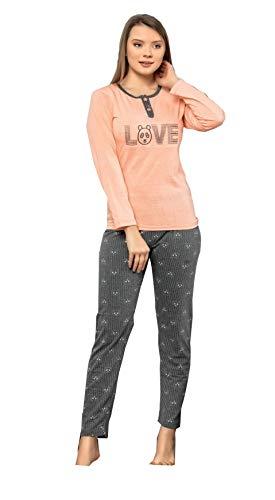 Damen Nachtwäsche Schlafanzug Set Pyjama Set Baumwolle Verschiedene Modelle (836, 36/38 (S))
