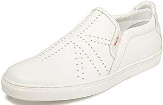 TONI ROSSI Men's White Prestigio Leather Casual Shoes (650249)