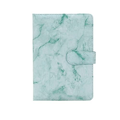 zanzan cuadernos personalizados, A5 Cuaderno de Cuero Portátil Diario Simple Creativo Personalidad de Negocios de Reunión Cuaderno de Regalo (128 Hojas/256 Lados) Cuadernos (Color: Verde)