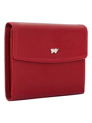 BRAUN BÜFFEL Geldbörse Golf 2.0 - aus echtem Leder - 8 Fächer M Rot