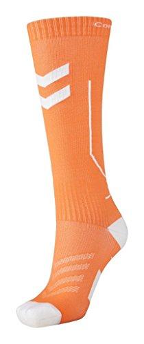 Hummel Kinder Compression Socks, Mehrfarbig (Shocking Orange/White), 25 - 31 cm (Herstellergröße: 1)