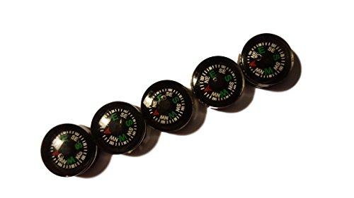 Lot de 5 boussoles d'extérieur Super Mini 1,2 cm