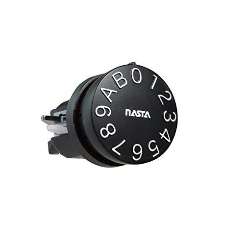 ナスタ(NASTA) 静音大型ダイヤル錠 右先 タテ KS-Z81-SPK-11NRT-SP メールボックス 鍵 交換 本体: 奥行50cm 本体: 高さ40cm 本体: 幅50cm