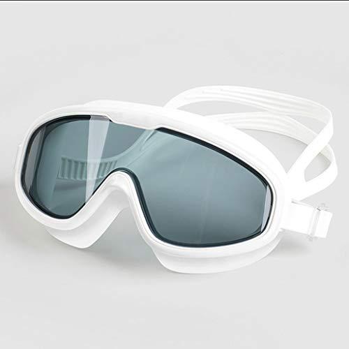 xiaofeng Gafas de natación Anti-Niebla con Forma Integral Protección UV con Marco de Silicona Grandes Gafas para Hombres y Mujeres (Color : A)