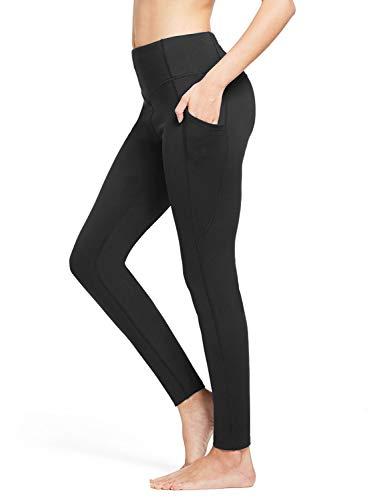 Product Image 7: BALEAF Women's Fleece Lined Leggings Winter Yoga Leggings Thermal High Waisted Pocketed Pants Black M