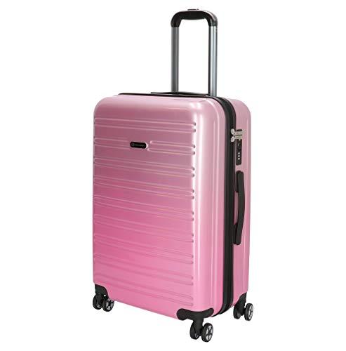 Hartschalenkoffer-Reisekoffer-Koffer-Trolley-Gepäck-Pink-L-66 cm-Leicht-Bowatex