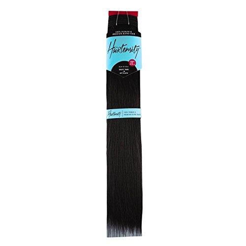Hairtensity Off Black 22 Inch Human & Premium Blend Hair #1B Off Black