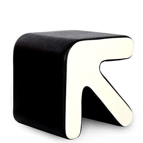husgeråd Pall massivt trä skor bänk soffa prov skor avföring kreativa små läder säng pall säng kort pall Mode Test skor avföring Badpall (Color : Black)
