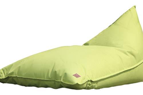 Grafinteriors Outdoor und Indoor Sitzsack XXL, Relaxsessel Chillout, abwaschbar, wasserfest, Markenware von GI Design (Leaf Green)