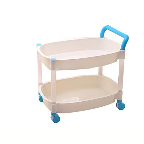 Support De Rangement en Plastique Chariot De Support De Stockage De Roues Multi-Couche De Finition Cuisine Rack Porte-Chariot Mobile