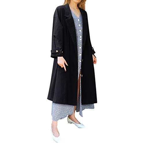 Geilisungren Abrigos para Mujer Moda Coat Mujer Casual Suelta Manga Larga Botón...