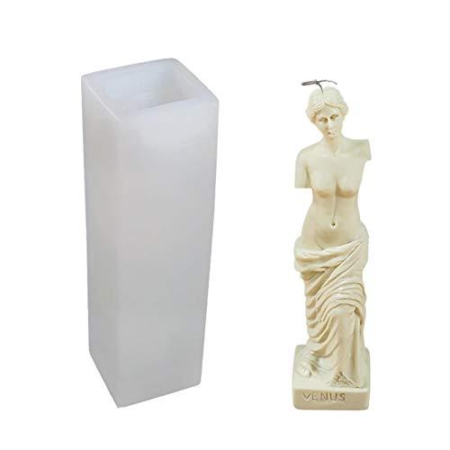 haptern Molde de silicone 3D Vênus Deuss, Vênus de Milo Grega Deusa da mitologia romana afrodita moldes de silicone de deusa da mitologia romana, ferramenta de fabricação de gesso