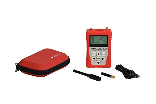 RFandEMF RF Explorer 3G Combo Handheld Spectrum Analyzer met Gekleurde bescherming Boot & Case, USB-kabel en gratis downloadbare software voor Windows en Mac omvat RF en Wi-Fi Analyzer, Rood