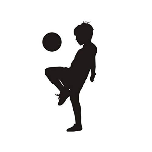 TOYANDONA Adesivos de parede de vinil para meninos com adesivos de parede de futebol infantil faça você mesmo papel de parede, murais, artes de decoração para janela, quarto, sala de jogos, casa
