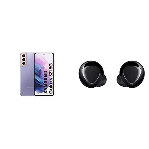 Samsung Galaxy S21 5G Smartphone Android Libre, Pantalla de 6.2' FHD+ 120Hz Dynamic AMOLED, Color Violeta [Versión española] + Samsung Galaxy Buds+ - Auriculares Inalámbricos, Color Negro