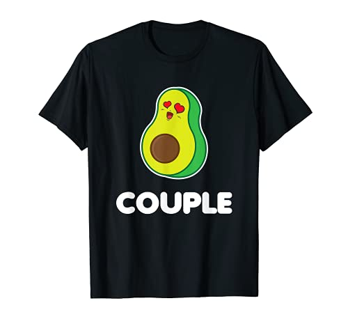 面白い お揃いのアウトフィット ビーガンギフト アボカド恋人 ベストカップル Tシャツ