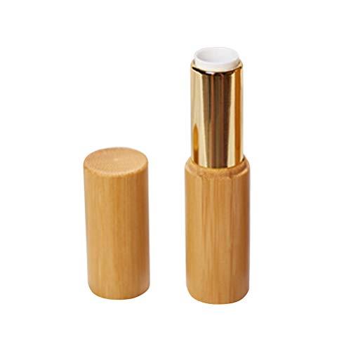 Vosarea Lippenstift Leer Behälter Nachfüllbar aus Bambus DIY Lippenstift Basteln Container 12.1mm...