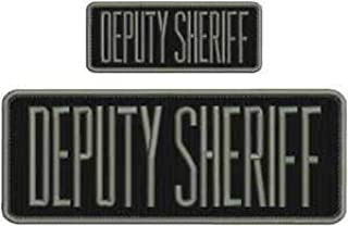 sheriff embroidery patches 3x8.50 and 2x4.50 hook