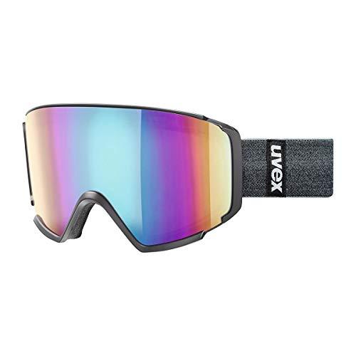 Uvex Control FM Gafas de esquí, Negro/Gris, Talla única
