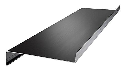 Aluminium Fensterbank Zuschnitt auf Maß Fensterbrett Ausladung 180 mm weiß, silber, dunkelbronze, anthrazit