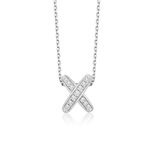 RQQ S925 Sterling Silver Necklace Letter Necklace Collarbone Chain Lady Necklace Platinum