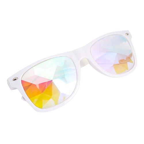 DODOING Männer Frauen Sonnenbrillen Regenbogen Goggles Kaleidoskop Gläser Rave Festival Party EDM Sonnenbrille Diffracted Linse Brille