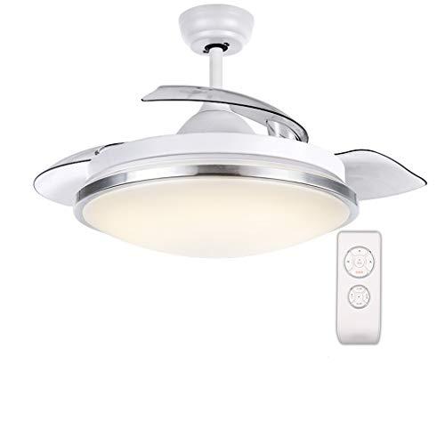 Luz del ventilador de techo Restaurante luz del ventilador de techo sala de estar/dormitorio luz del ventilador de techo luz del ventilador del dormitorio (91 cm) velocidad del ventilador ajustable