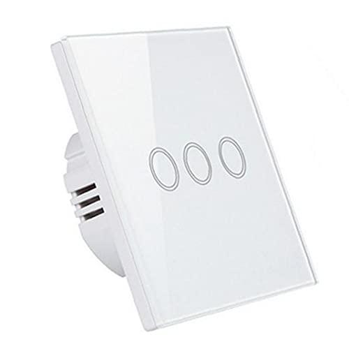 Interruptor de pared táctil Interruptor de luz inteligente Interruptor táctil inteligente WiFi Interruptor táctil WiFi Interruptor inteligente Interruptor de pared Interruptor de una sola línea
