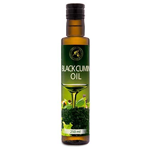 Aceite de Semilla de Comino Negro 250 ml - Prensado en Frío - Aceite de Comino Negro Puro y Natural para la Piel - Cabello