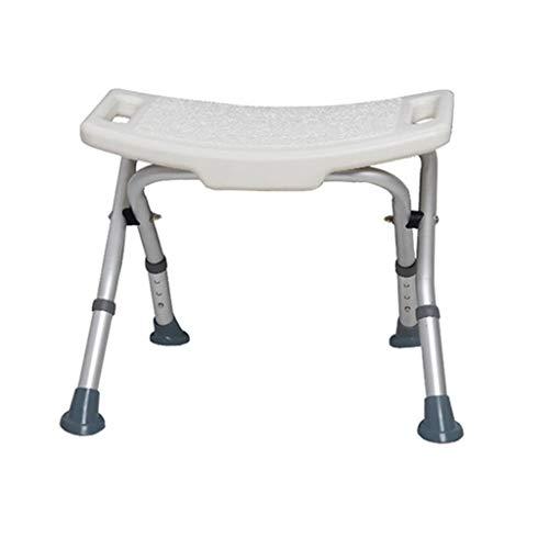 Silla de ducha plegable Taburete de asiento de ducha de acero inoxidable para ancianos / discapacitados Alfombrilla antideslizante Taburete de asiento de ducha con asa Banco de 3 alturas Taburete de