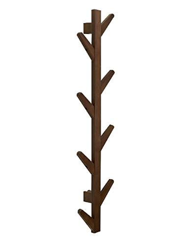 Perchero de Madera Maciza Forma de árbol Perchero de Pared de Aterrizaje Perchero Sala de Estar Dormitorio Colgador Decorativo Montaje en Pared 98 × 21.5 × 7CM