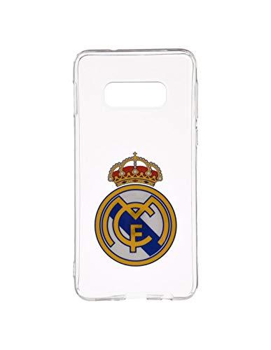 Wondee Global Services Carcasa Negra con Escudo a Color del Real Madrid Club de Futbol para Samsung S8 Plus