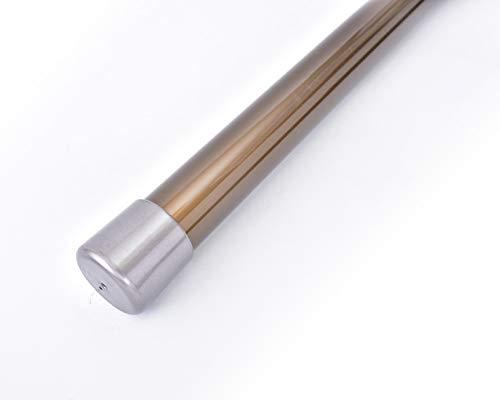 ものほし竿 2m 高剛性 組立て式 1本竿 洗濯竿 物干しざお 直径3.2センチ 本体カラー:ブロンズ (キャップカラー:シルバー)