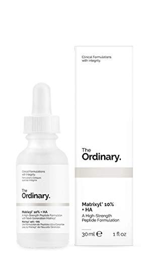 Matrixyl 10% y HA 30 ml de The Ordinary, una fórmula de péptidos de alta potencia