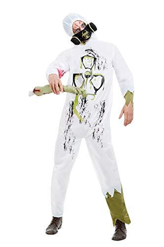Smiffys 61013L Biohazard Anzug, Herren, Weiß, Größe L, 106,7-111,8 cm