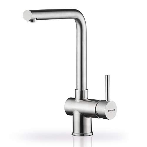 Pyramis Mandolin Edelstahl Hochdruck-Armatur Wasserhahn Mischer Küchenarmatur